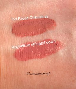 Too Faced Melted Dupe Swatch