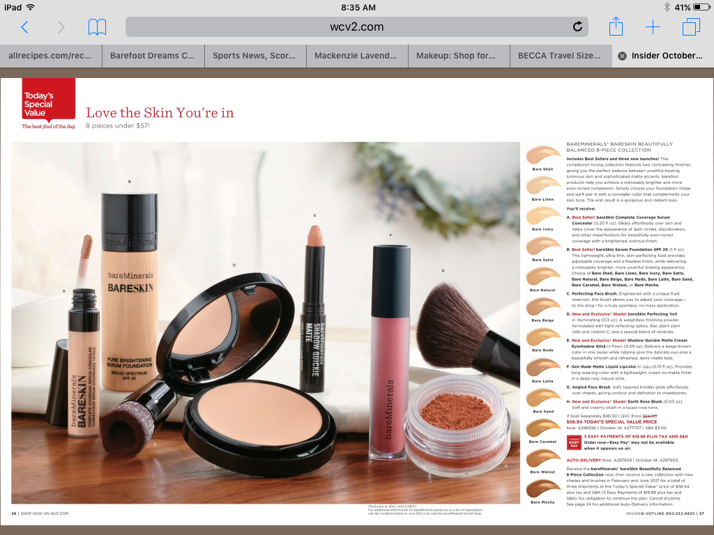 BareMinerals October TSV 2016