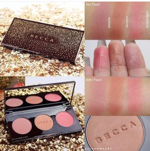 Becca Blushed With Light Palette Swatches