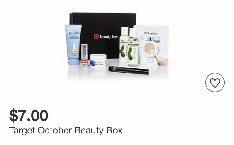Target October Beauty Box