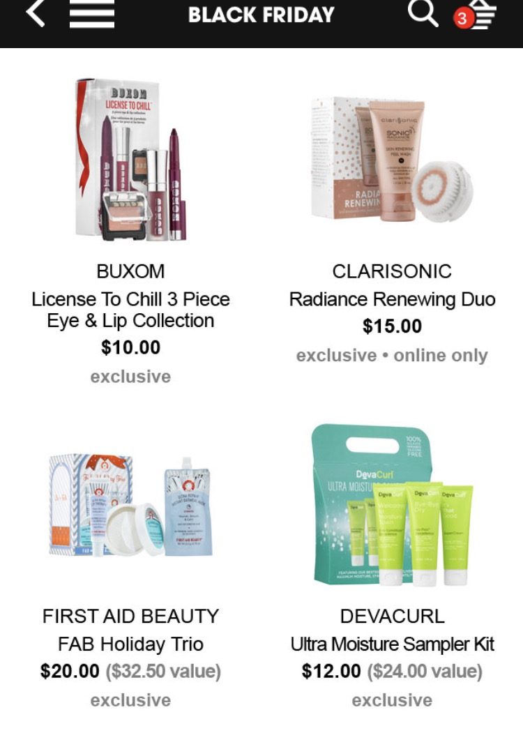 sephora-black-friday-buxom-clarisonic
